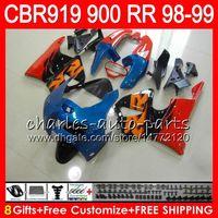 Wholesale 919 Fairing - Body For HONDA CBR 919RR CBR900RR CBR919RR 1998 1999 68NO30 TOP Red blue CBR 900RR CBR919 RR CBR900 RR CBR 919 RR 98 99 Fairing kit 8Gifts