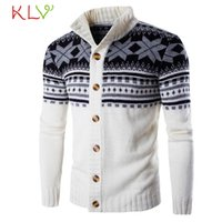 Wholesale Browning Acrylic Nails - Wholesale- New Brand Autumn Winter Men's Fashion Hooded Nail Wind Turn Down Collar Neck Sweater Male Knitted Jacket Blouse !4