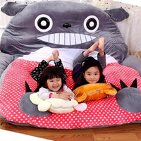 Wholesale totoro bed - pop cuddly anime Totoro beanbag plush bed tatami mattress game pad sofa room decoration gift cm x cm