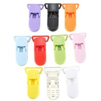 Wholesale Dummies For Babies - Wholesale-hot Colored Plastic Suspender Soother Pacifier Holder Dummy Clips For Baby Accessories