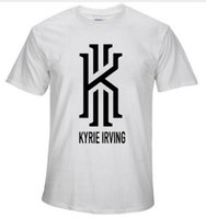 Wholesale shirt basket - 2016 summer new KYRIE IRVING basket ball t shirt men women casual short tees CAVS tshirt homme sprotswear camiseta hombre XS-2XL