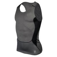 Wholesale Tight Sexy Vest Men - Wholesale- Men Compression Tight Tee Shirts Base Layer Fitness Workout Vest Tank Tops Plus Size