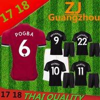 Wholesale Eco Kits - 2018 Manchesteres United home away Black Jersey Kits 2017 2018 Thai quality Rooney MARTIAL ROONEY POGBA RASHFORD Jersey Shirt