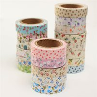 Wholesale Lovely Fabric Tape - Wholesale- 2016 Hot DIY Lovely Fabric Cloth Masking Decorative Tape Sweet Vintage Flower Floral Tapes Sticky for Album Scrapbooking Decor