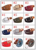 Wholesale Wholesale Elastic Belts For Women - New Arrivals 2017 brand designer belts mens designer belts luxury belts for men women Stretch woven elastic belt 39 color unisex