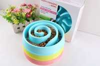Wholesale Slow Dog Food Bowl - 2017 Top sale Anti Choke Pet Dog Feeding Food Bowls Puppy Slow Down Eating Feeder Dish Bowel Prevent Obesity Dogs Supplies 20.5*19.5*4cm