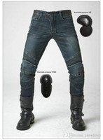 Wholesale Motor Jeans - Free shipping uglyBROS Featherbed dirty-blue motorcycle jeans motor ridding trousers Motorcycle protection pants motorcycle protective jeans
