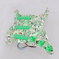 Wholesale Strat Green - Loaded Prewired Pickguard SSS Single-coil Pickup for Strat ST Guitar Green