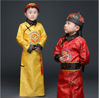 Wholesale Chinese Clothes For Boys - q0228 Hanfu Dress Ancient Chinese Traditional Costume Men for Kids Boys Hanfu Cosplay Child Clothing Tang Dynasty Dance Children