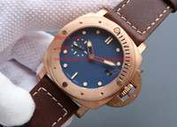 Wholesale Real Luxury Watches - Luxury AAA Brand Wristwatches 47mm real BRONZE Automatic Mechanical 1950 SUBMERSIBLE wristwatch pam00671 pam671 pam 00671 Mens Watch Watches