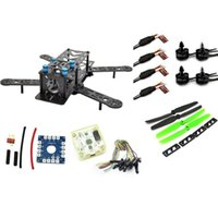 Wholesale Rc Plane Prop - RC plane ZMR 250PRO drone with camera dron fpv drones quadcopterCombo kit motor MT2204, 12A ESC,CF Prop & CC3D EVO flight BLUE