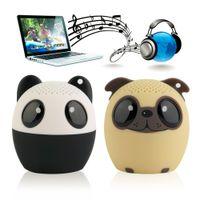 Wholesale Cute Dog Usb - Wholesale- Bluetooth Wireless Cute Animal panda dog Sound Speaker Portable Clear Voice Audio Player VTB-BM6 TF Card USB Ifor Mobile PC