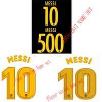 Wholesale Printer Tools - New jerseys name set printer tools 2017 2018 Primera división de Liga Soccer jerseys Hot print name set MESSI 10 500 La Liga name set