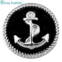 Wholesale Brass Coral Bracelets - Rivca Hot Wholesale Newest Design Ginger Snap Button Bracelet NOOSA Chunks Leather Bracelets For Women Fit 18mm Rivca Snap Jewelry D00452
