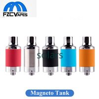 Wholesale threading tools - Original Yocan Magneto Atomizer Wax Tank with Tab Tool Magnetic Cover Ceramic Coil 510 Thread Clean Vape Vaporizer