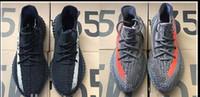 Wholesale Glow Dark Ems - NEW DHL EMS Kanye West Sply Boost 350 V2 zebra Black White Green Glow yesbots Men Women ultra nmd smith Running Shoes size 36-49