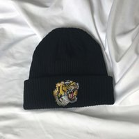Wholesale Tiger Winter Hats - 2017 no tag no label luxury brand winter beanies Tiger hat beanies for women men skullies bone usa brand nanci si winter wool ski knitted