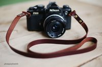 Wholesale Rivets 12mm - NEW 12mm rivet dark brown handmade Camera neck shoulder strap Generic SLR DSLR