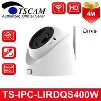 Wholesale Nightvision Dome - TSCAM New TS-IPC-LIRDQS400W HD 4MP Wifi Wireless Dome IP Camera 4X Manual Zoom Lens IR NightVision H.265 P2P Security Cam