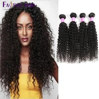 Wholesale Cheap Good Remy Hair - Brazilian Kinky Curly Virgin Hair 4PC lot Brazilian Weave wavy cheap and good Quality Remy Brazilian Human Hair curly Hair Extensions