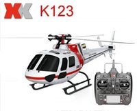 Original XK BNF 6CH sem escova AS350 Scale 3D 6G Sistema RC Helicopter Brushless Upgrade 3-Blade RTF Versão WLtoys V931