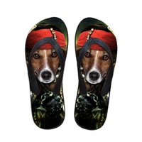 Wholesale Funny Slippers For Men - Wholesale-funny cosplay animals dog print flip flops for mens beach flat flip flops casual rubber beach chinelo male bath slipper fashion