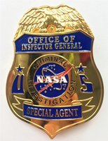 Wholesale Home Office Safe - Office Of Inspector General Special Agent Criminal Investigation NASA Metal Badge Zinc alloy Halloween Cosplay Metal Toy Brooch Badge Gift