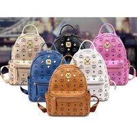 Wholesale Cheap Printed Plastic Bags - Hot MCHY&TYF Stark Backpack bag Bags bookbag ladies handbags on sale cheap rivet clinch clinch bolt Women girls bookbags