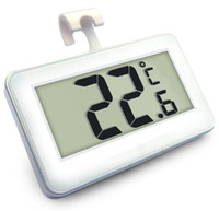 Wholesale Digital Thermometer High Precision - Digital Fridge Freezer Thermometer High Precision Waterproof Electronic Thermograph Refrigerator Thermometer Hook With Frost Alarm KKA2389
