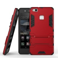 Wholesale Nova V8 - Hybrid Kickstand Case For Huawei G9 Plus Nova Plus Honor 5A 8 5C V8 P9 Plus P8 Mate8 Shockproof Drop Resistance Cover Cases