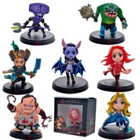 Wholesale Dota Figures - 7pcs Set DOTA 2 Game Figure Kunkka Lina Pudge Queen Tidehunter CM FV PVC Action Figures Collection dota2 Toys