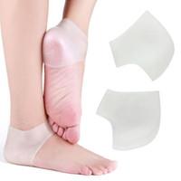 meias de pele para mulheres venda por atacado-New premium mulheres homens pés cuidados SPA Gel Hidratante Calcanhar Meias Rachado Pé Seco Protetor Da Pele Dura cuidados com os pés