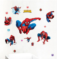 Spider-man Wall Stickers Stanza dirigono la decalcomania bambini finestra vetrina murale adesivo de Parede Camera Nursery