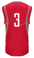 Wholesale Multi Color Fan - New Arrival 3 Chris Paul Jersey Men Red Whiet Black Team Color Paul Basketball Jerseys All Stitched For Sport Fans With Player Name