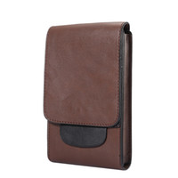 9fb61365a80 Luxo bolsa de couro pu universal mobile phone case bolsa de cintura 6.3 6.5  6.0 5.5 polegadas para iphone x 8 samsung note8 huawei oppbag