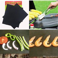 Wholesale Sticky Surfaces - High Temperature Resistant Barbecue Pads Not Sticky BBQ Grill Mats Easy To Clean Pad Reusable Universal Mat Portable 16cn BR