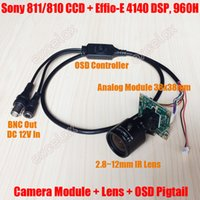 Wholesale Osd Manual - Analog 700TVL Sony 811 810 CCD Effio-E DSP 2.8-12mm Manual Varifocal Lens CCTV PCB Board Camera Module OSD Menu Control Cable