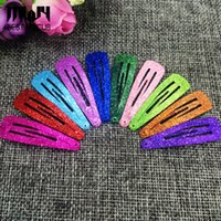 Wholesale Red Snap Hair Clips - Gradient glitter women 's headwear Hair Snap Clips Christmas gifts bobby pin accessories hairgrips Barrettes hairpins 20pcs lot drop shippin