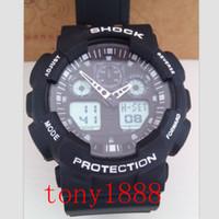 Wholesale Day Running Lights - Relogio masculino luxury brand watch men G GA100 Men sports watches LED light watch running hiking digital shock 100 Wristwatches