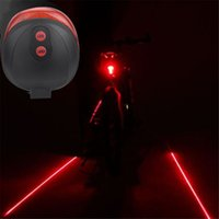 Wholesale Bicycle Bike Red Laser Beam - Cycling Bike Bicycle 2 Laser Projector Red Lamps Beam and 3 LED Rear Tail Lights Outdoor Bicycle laser taillights