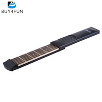 Wholesale Ebony Fret - Wholesale- High Quality Portable Pocket Acoustic Guitar Practice Tool Gadget 6 String 6 Fret Model for Beginner