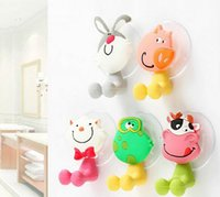 Wholesale Toothbrush Suction Cup Strong - Cute cartoon animal strong suction cup toothbrush holder toothbrush seat G415