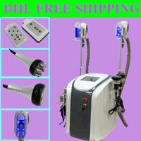 Wholesale Cavitation Machines - fat freezing machine ultrasonic cavitation rf slimming 2017 velashape machine lipo laser 2 fat freezing handles work together