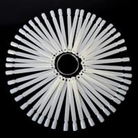 tırnak cilası satış ekranı toptan satış-Toptan Satış - Toptan-50pcs Doğal / Şeffaf Nail Art Fan Kurulu Lehçe UV Jel Ekran Nail Art İpuçları Çubuk Ekran Uygulama Manikür Aracı Sıcak Satış