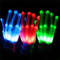Wholesale Kids Novelty Lighting - LED Gloves Halloween LED Cosplay Glove Lighted Toy Halloween Light Props Party Light Gloves 6 Colors Halloween Novelty Lighting Toys 3002053