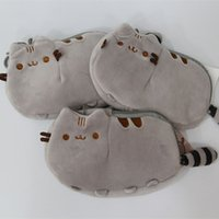 Wholesale Gift Bags Fashion Dolls - Pusheen Cat Plush Stuffed Doll Animals Coin Bag Toys For Child Best Gifts 18x12cm wholesale F2017237