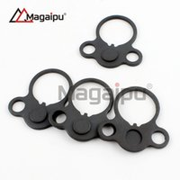 Wholesale Dual Loop Adapter - Magaipu Double Orifice Steel Sling Swivels Hunting AR End Plate Round Dual Loop Sling Adapter Right Left Handed Mount