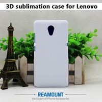 weißgold plastikplatten großhandel-3D DIY Sublimation Blank Kunststoff Weiß Matt und Glatte Abdeckung mit Metallplatte für Lenovo A6000 für Lenovo A7010 PC-Schutzhülle