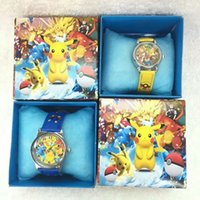 Wholesale Leather Japanese Girls - Wholesale Cartoon Japanese anime kids boys girls children cartoon quartz Children Wristwatch Watches With Boxes Party Favors Gift W3