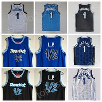 Wholesale Lp Top Quality - NWT 1 Penny Hardaway Men Basketball Jerseys Cheap Throwback 1 2 LP Penny Anfernee Hardaway Jersey Black White Blue Color Sport Top Quality